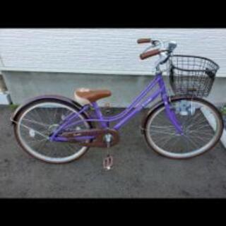 女児用自転車 22インチ パープル