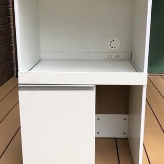 ★ニトリ レンジ台キッチン収納 2口コンセント付 幅約47cm