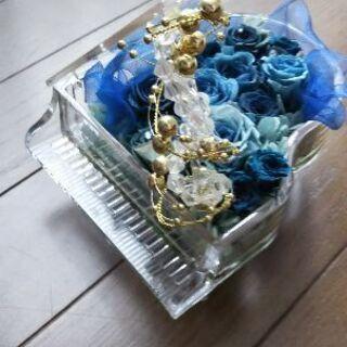 (今入力中)青い薔薇のプリザーブドフラワー