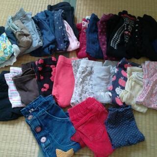 女の子 ズボン、レギンス、足付きズボン(1~2歳前まで)30着以上
