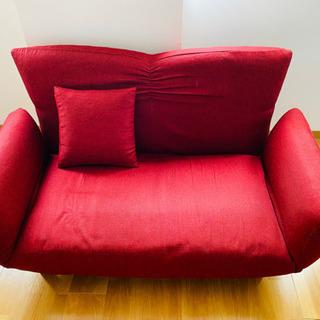 リクライニング ソファ 赤