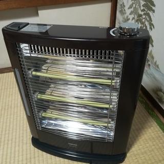 [山善] 遠赤外線電気ストーブ 3段階切替 スチーム式加湿機能付