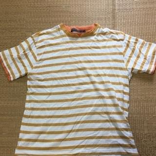 025 オレンジボーダーTシャツ