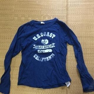 027 Tシャツ青
