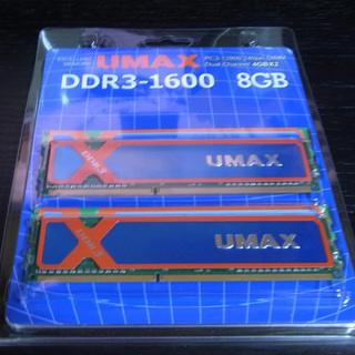 UMAX UM-DDR3D-1600-8GBHS(メモリ DDR...