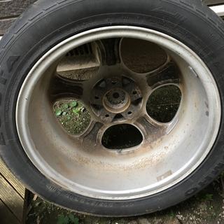 17インチ古タイヤ.アルミホイールセット