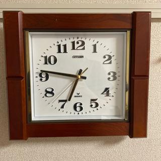 ヴィンテージ 時計 壁掛け 木 CITEZEN