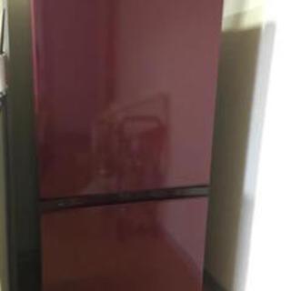 AQUA冷凍冷蔵庫 AQR-16F ワインレッド