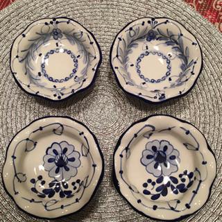 輸入雑貨 陶器脚付小鉢