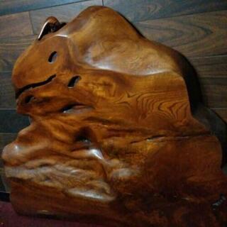 重量物≪天然木一枚板≫工芸品 衝立