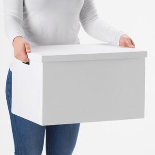 【あげます】IKEA 紙ボックス収納ボックス 白 2個セット