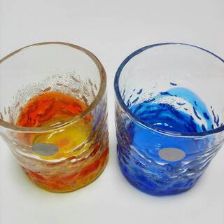【値下げ】新品手作り琉球グラス 2個セット