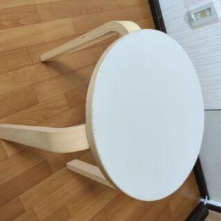 2019年製 ニトリ 木製スツール セロ(ホワイト)