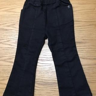 100cm ストレッチパンツ黒