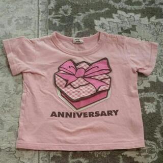 リボン&ケーキ柄Tシャツ  95cm