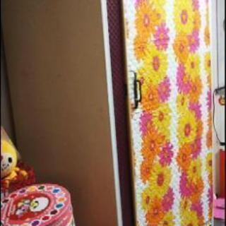 昭和 レトロポップ デコラ 葉っぱ柄 花柄 タンス
