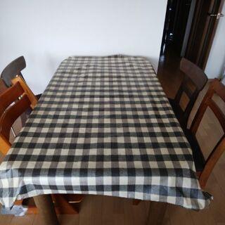 無料!ダイニングテーブル、いすセット 中古難あり0円