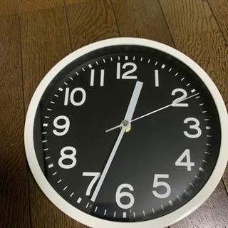 時計 壁掛け 白