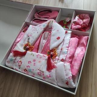 七五三 女の子 着物衣装セット ピンク&ホワイト基調 娘が3歳の...