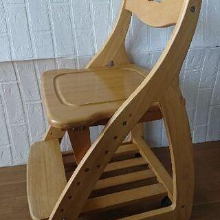 学習椅子 木製 キャスター付き