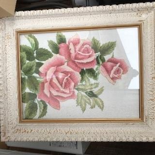 ヴィンテージ 薔薇アート