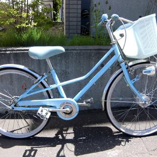 札幌 22インチ 自転車 水色 ブルー 子供用自転車 キッズ 女...