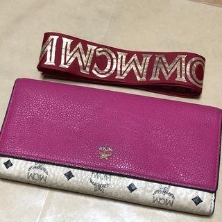 正規品 MCM 長財布 ピンク +おまけ