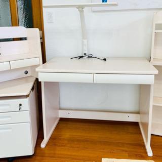 【取引中】学習机 組み合わせデスク 木目白色