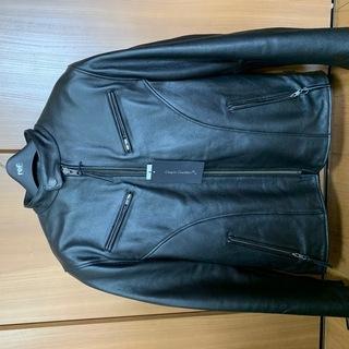バイク用プロテクター付本革製ジャケット