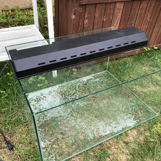 爬虫類 リクガメ 飼育 ゲージ ガラスゲージ 水槽 UVBライト付き
