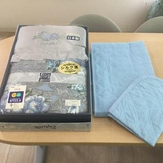 TORAY  シルク混肌布団と夏用敷パット、枕カバーのセット