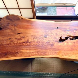一枚板のテーブルトップ 別途テーブル脚もあり