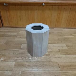 ゴミ箱 《素材》木彫り トールペイント