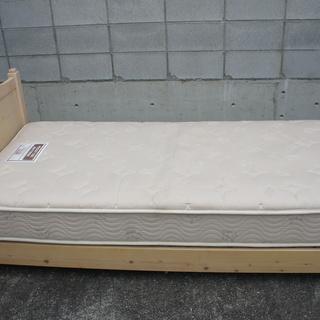 シングル・木製ベッド!まあまあ奇麗!引っ越し不用で格安でお譲ります!