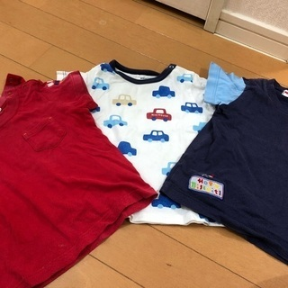 ミキハウス Tシャツ 80 3枚