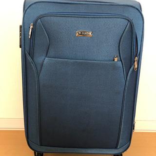 スーツケース 青 鍵なし キャスター付き