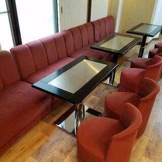 カラオケスナック使用イス、ソファー、テーブル、バーチェア