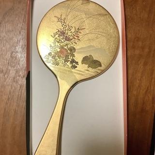 手鏡(金箔漆器)