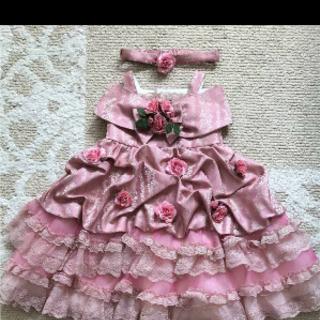 値下げ 薔薇の可愛いドレス キッズ