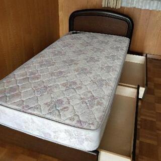 シングルベッド マットレス ベットフレーム