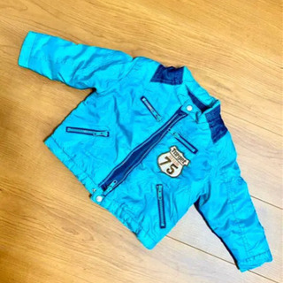 【美品】 【80サイズ】水色のダウンジャケット