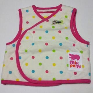 子供服 女の子 50-60サイズ 室内用 ベスト 水玉