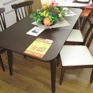R205 NITORI 伸長ダイニングテーブルセット 2種類椅子...