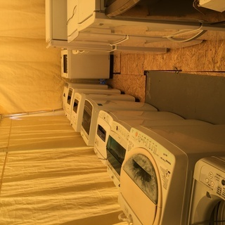 消毒・洗浄済み洗濯機・冷蔵庫 レンジ 古物等 約40点以上