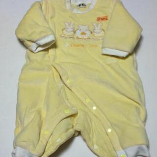 子供服 男の子 女の子 70サイズ 長袖ロンパース おくるみ 黄色