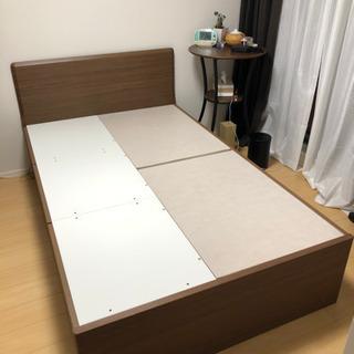 ニトリ セミダブル ベッドフレーム マットレス付き 【6月20日...