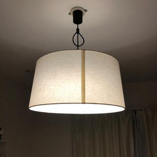 天井照明 円形ライト 50センチ×24センチ オフホワイト