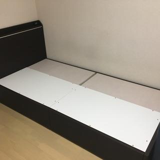【緊急】ニトリ シングルベッドフレーム+マットレス セット