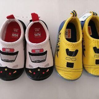 [新品]16センチ 2足トミカ プラレール 靴