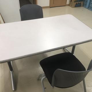オフィス用 テーブル椅子2脚セット